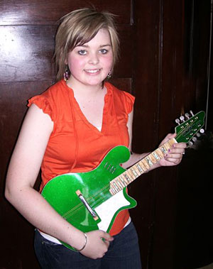 Makaylie Foodey with Tomkins mandolin
